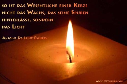 Eine Kerze für alle meine Lieben.