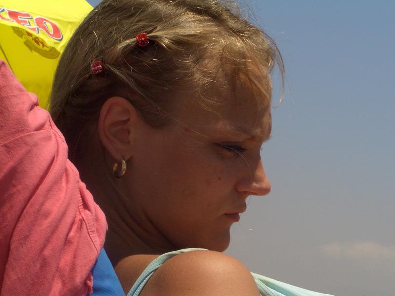 Kristiina am Strand