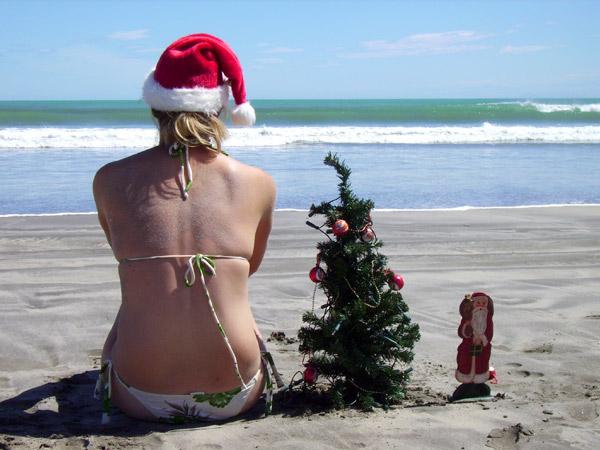 Weihnachten am Strand