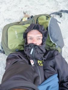 I am sleeping on the beach in San Petro