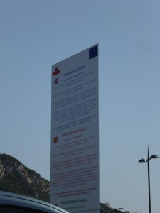 Apologizing from Gibraltar