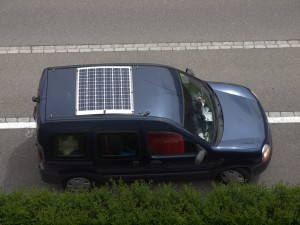 Solar cell on the car